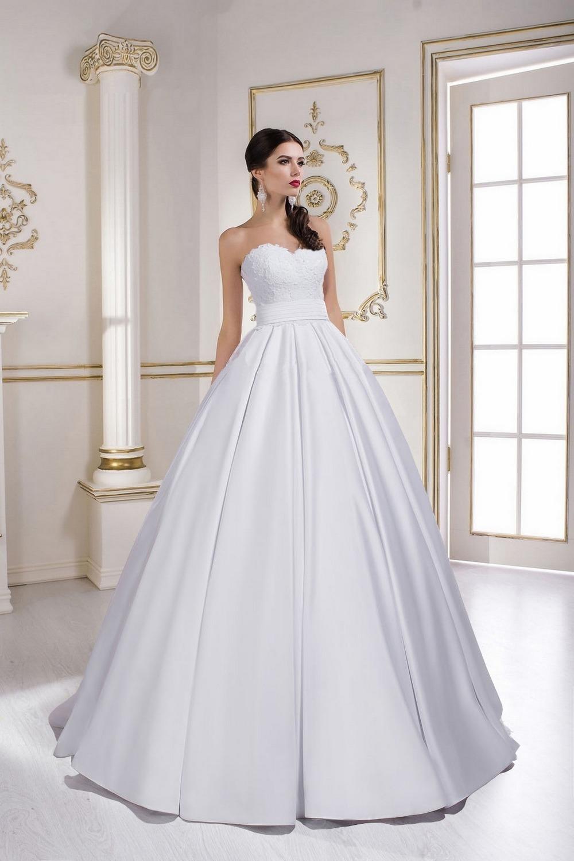 Свадебное платье из атласа r1613